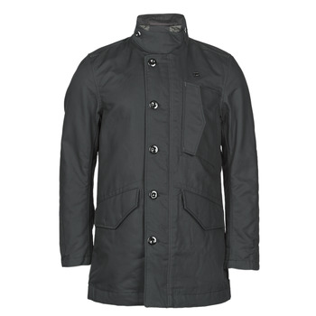 Clothing Men Trench coats G-Star Raw SCUTAR UTILITY PDD TRENCH Dk /  black