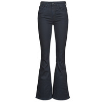 Clothing Women Bootcut jeans G-Star Raw 3301 HIGH FLARE WMN  black / Metalloid / Cobler