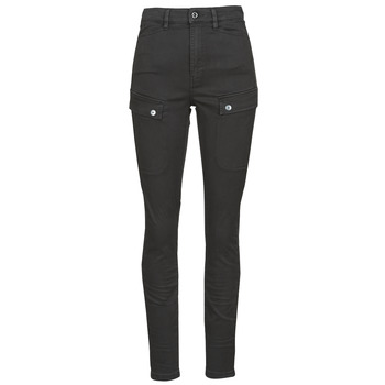 Clothing Women Cargo trousers G-Star Raw BLOSSITE ARMY ULTRA HIGH SKINNY WMN Dk /  black / Gd