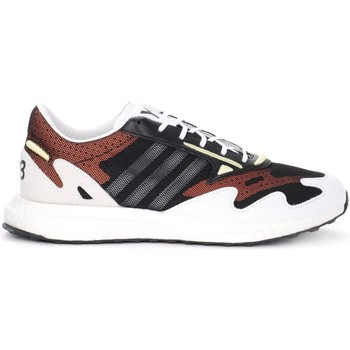 Shoes Men Low top trainers Y-3 Rhisu Run sneaker in black mesh with white and red details Multicolour