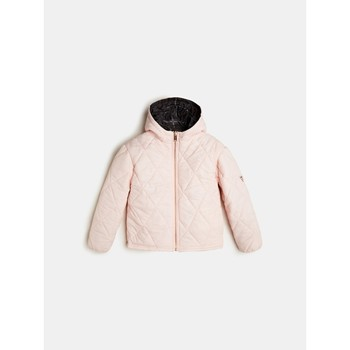 Clothing Girl Duffel coats Guess J0YL01-WCAB0-PIK Black / Pink