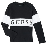 Clothing Boy Long sleeved tee-shirts Guess L0YI27-K8HM0-JBLK Black
