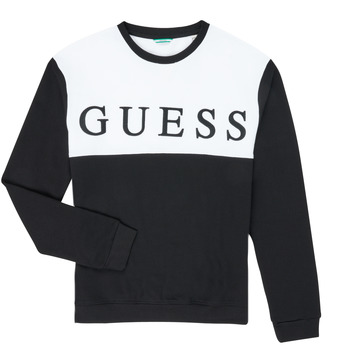 Clothing Boy Sweaters Guess L0YQ03-KA6R0-JBLK Black / White