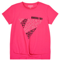 Clothing Girl Short-sleeved t-shirts Guess J0BI06-J1300-LVPI Pink