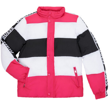 Clothing Girl Duffel coats Guess H0BJ03-WDC70-PKBK Pink / Black