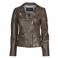 Clothing Women Leather jackets / Imitation leather Oakwood VIDEO Brown