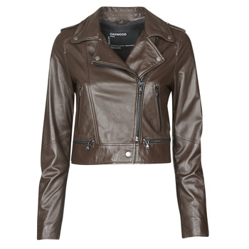 Clothing Women Leather jackets / Imitation leather Oakwood YOKO Brown