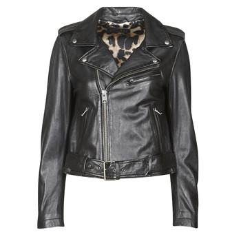 Clothing Women Leather jackets / Imitation leather Oakwood RADIO Black