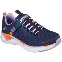 Shoes Girl Low top trainers Skechers Solar Fuse Power Paint Girls Trainers blue