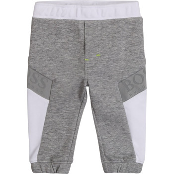 Clothing Boy Tracksuit bottoms BOSS J04378 Grey