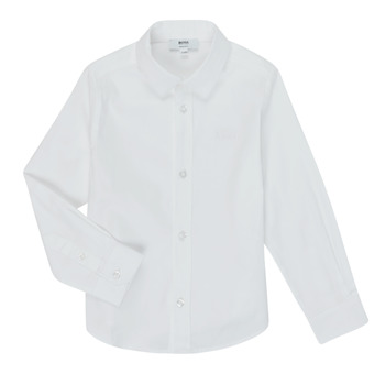 Clothing Boy Long-sleeved shirts BOSS J25P16 White