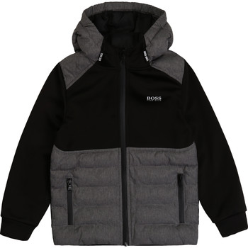 Clothing Boy Jackets / Cardigans BOSS J25G76 Black