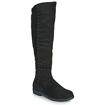 Shoes Women High boots Spot on F50851 Black