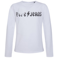 Clothing Girl Long sleeved tee-shirts Pepe jeans RONA White