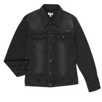 Clothing Boy Denim jackets Pepe jeans LEGENDARY Black