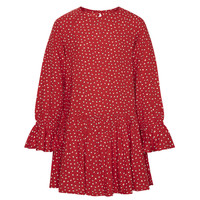 Clothing Girl Short Dresses Pepe jeans CATY Red