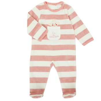 Clothing Girl Sleepsuits Absorba 9R54053-32 Pink