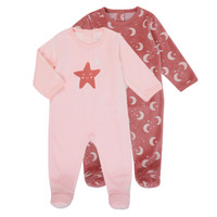 Clothing Girl Sleepsuits Absorba 9R54133-302 Pink