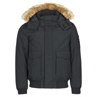 Clothing Men Parkas Calvin Klein Jeans FUR TRIMMED DOWN JACKET Black