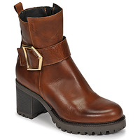 Shoes Women Ankle boots Sweet Lemon PIRLOU Cognac