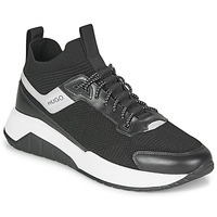 Shoes Men Hi top trainers HUGO ATOM RUNN KNSK Black / White