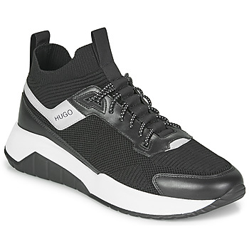 Shoes Men Low top trainers HUGO ATOM RUNN KNSK Black / White