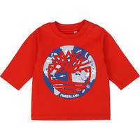 Clothing Boy Long sleeved tee-shirts Timberland T95889 Red