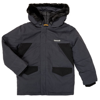 Clothing Boy Parkas Timberland T26525 Grey