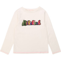 Clothing Girl Long sleeved tee-shirts Billieblush / Billybandit U15795 White