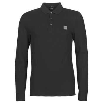 Clothing Men Long-sleeved polo shirts BOSS PASSERBY Black
