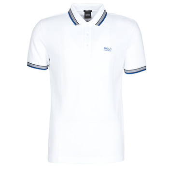Clothing Men Short-sleeved polo shirts BOSS PADDY White