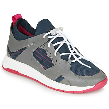 Shoes Men Low top trainers BOSS TITANIUM RUNN  KNMX Grey