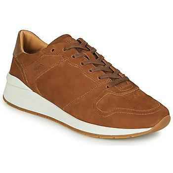 Shoes Men Low top trainers BOSS ELMNT RUNN NUSF Cognac