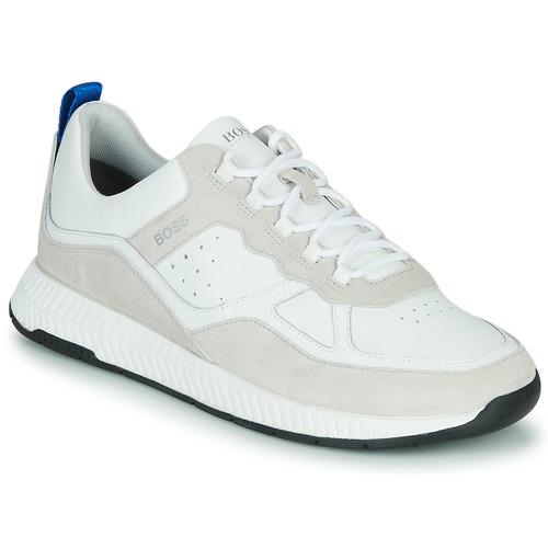 Shoes Men Low top trainers BOSS TITANIM RUNN LTMX White