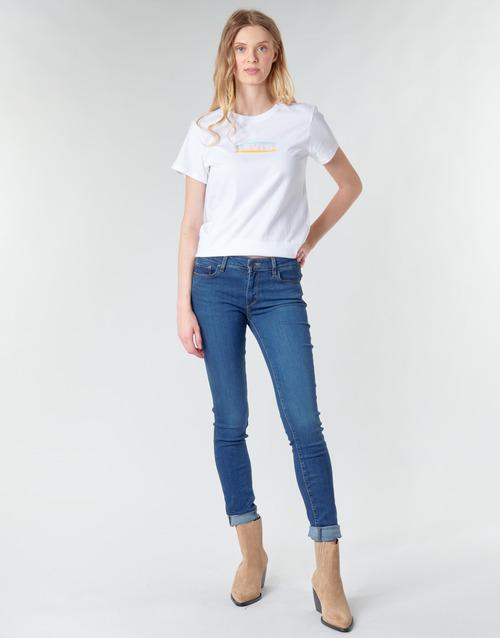 Clothing Women Skinny jeans Levi's 711 SKINNY Bogota / Life