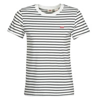Clothing Women short-sleeved t-shirts Levi's PERFECT TEE Cloud / Dancer