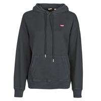 Clothing Women Sweaters Levi's STANDARD HOODIE Black