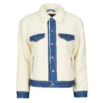Clothing Women Denim jackets Levi's EX BF PIECED TRCKR Counting / Sheep