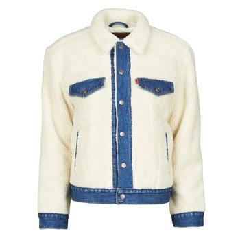 Clothing Women Denim jackets Levi's EX BF PIECED TRCKR Sheep
