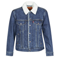 Clothing Women Denim jackets Levi's EX-BF SHERPA TRUCKER Blue