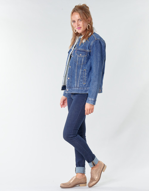 2020 Newest Levi's EX-BF SHERPA TRUCKER Blue 17780926 Women's Clothing
