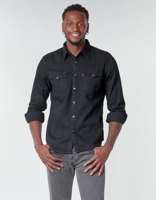 Clothing Men Long-sleeved shirts Levi's BARSTOW WESTERN STANDARD Black