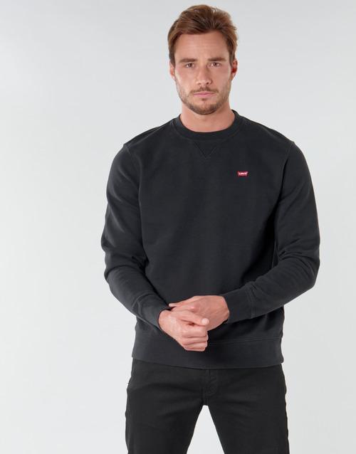 Clothing Men Sweaters Levi's NEW ORIGINAL CREW Black