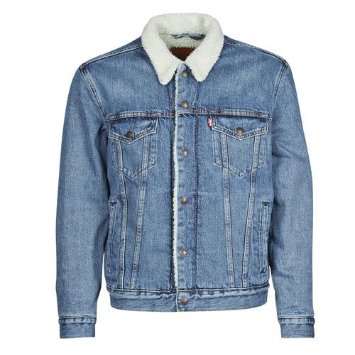 Clothing Men Denim jackets Levi's TYPE 3 SHERPA TRUCKER Blue