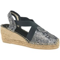Shoes Women Espadrilles Toni Pons Terra Womens Wedge Heel Espadrille Sandals black