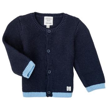 Clothing Girl Jackets / Cardigans Carrément Beau Y95230 Blue