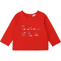 Clothing Girl Long sleeved tee-shirts Carrément Beau Y95252 Red