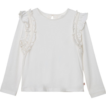 Clothing Girl Long sleeved tee-shirts Carrément Beau Y15359 White