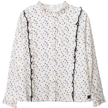 Clothing Girl Tops / Blouses Carrément Beau Y15356 White