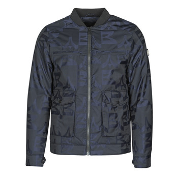Clothing Men Jackets Scotch & Soda JACQUARD BOMBER Marine